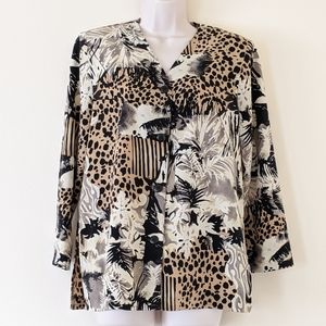Vintage animal and palm fronds print jacket